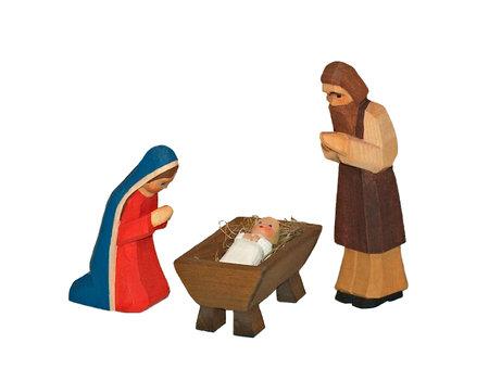 Figuren-Set: Maria, Josef, Christkind-zwei teilig (Typ 1)