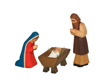 Figure-Set: Mary, Joseph, Christchild-two parts (Type 1)