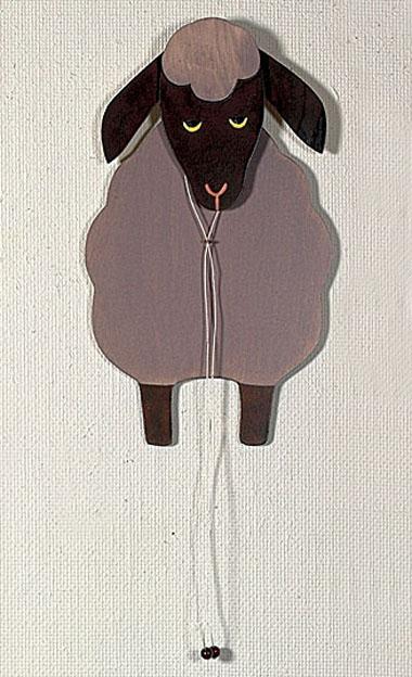 Hampel-Schaf, dunkel, 35 cm