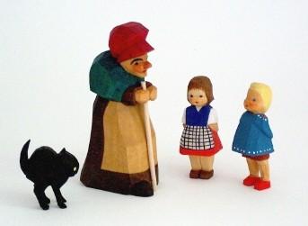 Set: Hexe, Katze, Hänsel und Gretel (Typ 1)