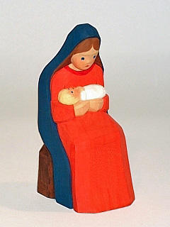Mary with child, sitting, 9 cm (Type 1)