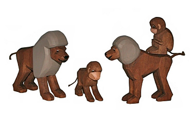 Set: Affen-Familie (Typ 2)