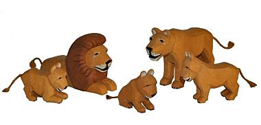 Set: Löwen-Familie (Typ 2)