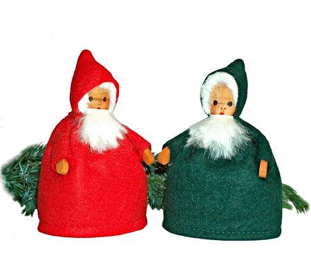 Gnome small, green, 9 cm