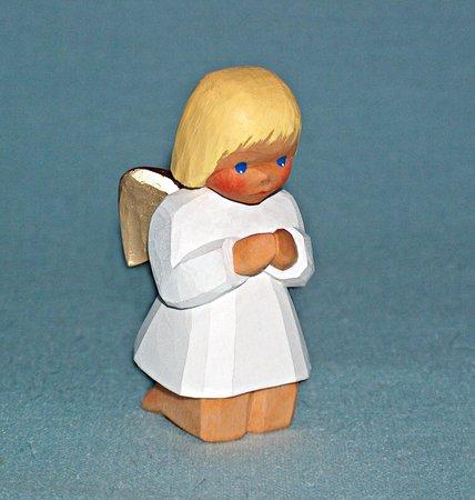 Engel, kniend, blond, 8,5 cm (Typ 2)