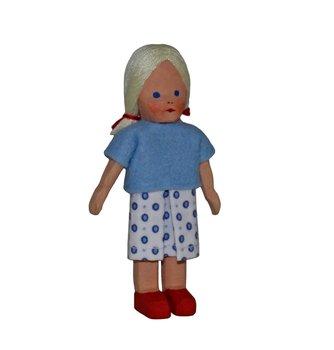 Mädchen, klein, blond, 8 cm