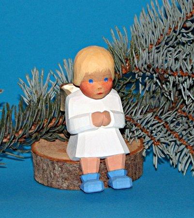 Engel, sitzend, blond, 9,5 cm (Typ 2)